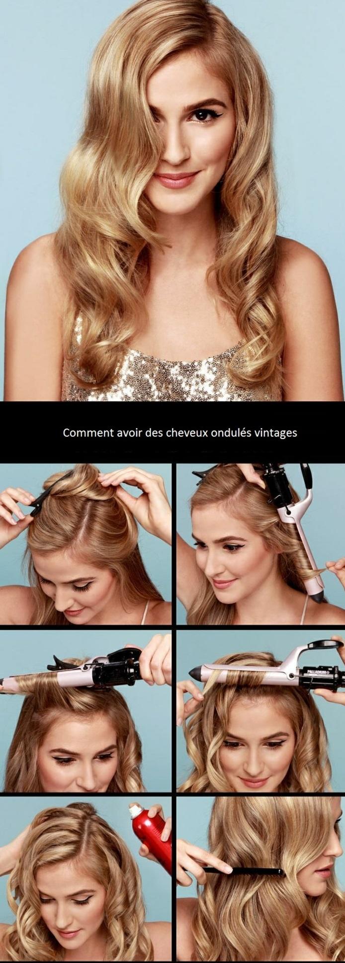 coupe-de-cheveux-tendance-coiffure-cheveux-ondulés-sans-chaleur-femme-blonde