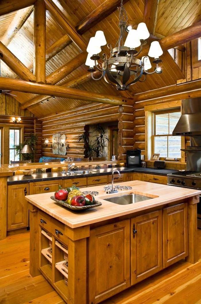 Mobilier de cuisine en bois massif faire un meuble de for Mobilier de cuisine