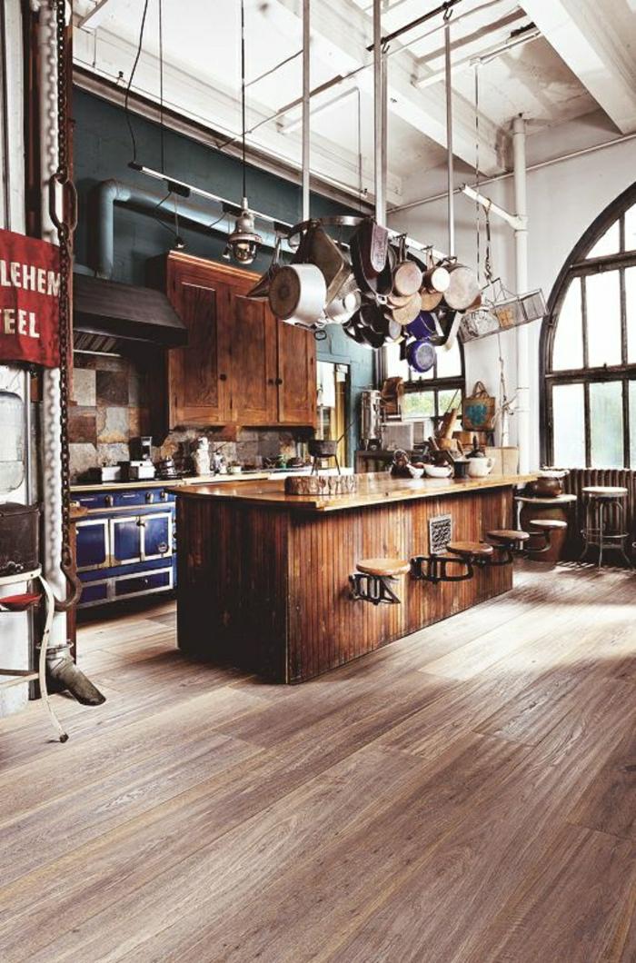 1-cuisine-en-bois-massif-design-élégant-en-bois-massid-cuisine-cocktail-scandinave