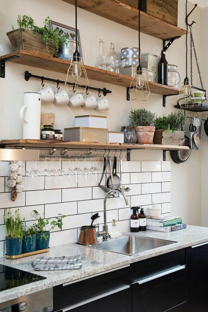 1-cuisine-feng-shui-maison-couleur-chambre-feng-shui-idée-carrelage-blanc-meubles-noirs