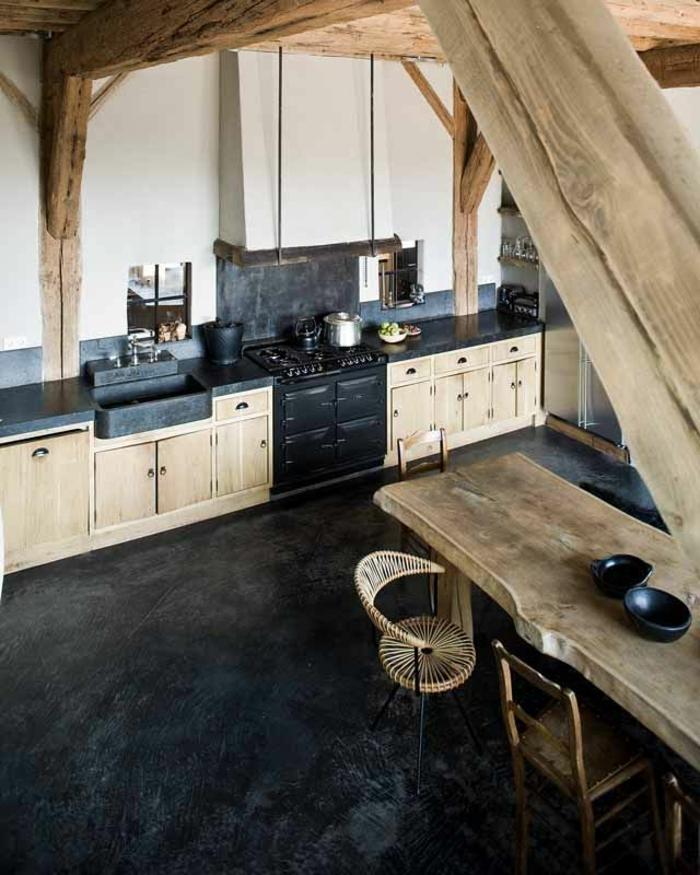 La cuisine en bois massif en beaucoup de photos for Plan de travail chene massif m