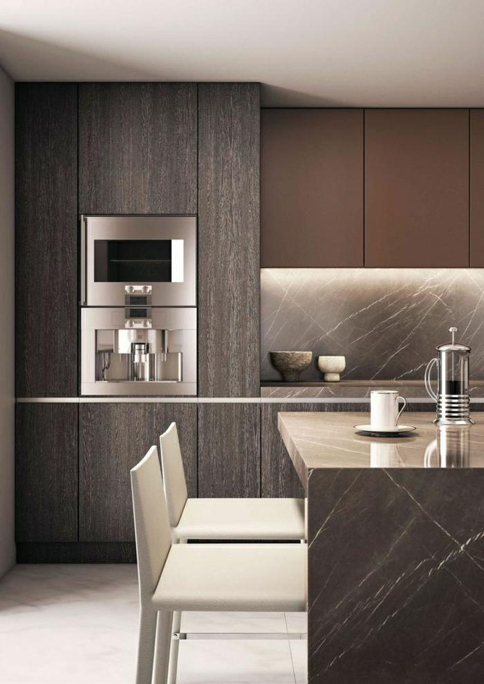 1-idée-couleur-cuisine-couleur-taupe-meubles-de-cuisine-chaise-de-bar-blanc