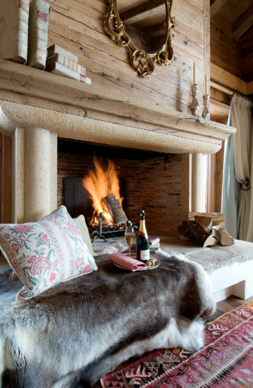 Quel type d int rieur pour votre chalet en bois habitable - Chalet cheminee montagne ...