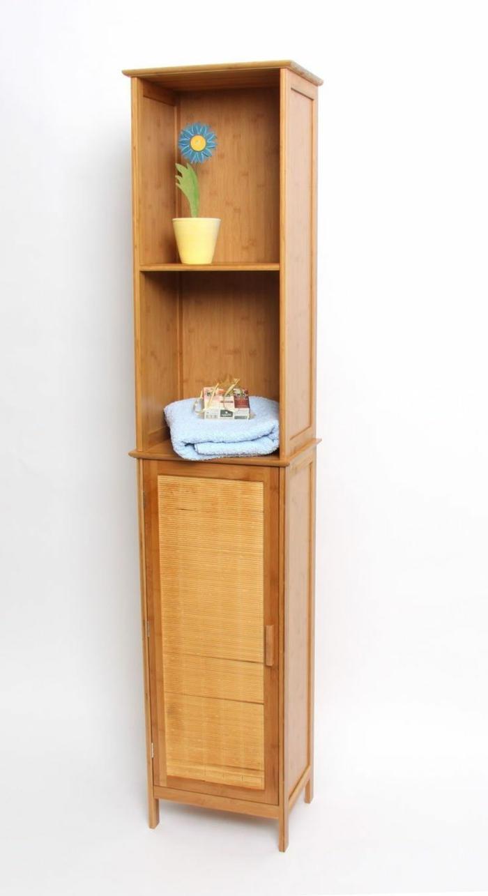 Salle de bain orange et bois - Les petit meubles de marie ...