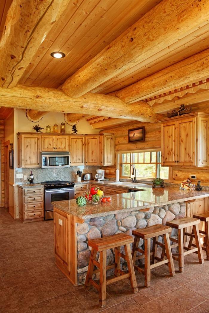 ★ La cuisine en bois massif en beaucoup de photos!