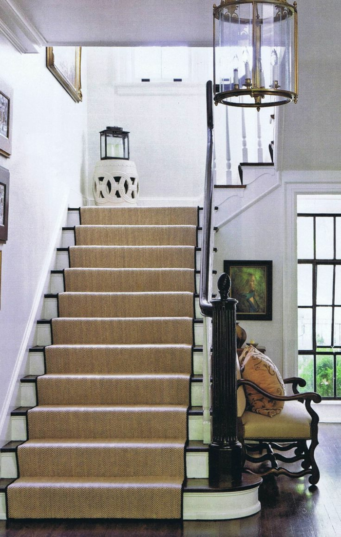 Le tapis pour escalier en 52 photos inspirantes for Photos escalier interieur moderne