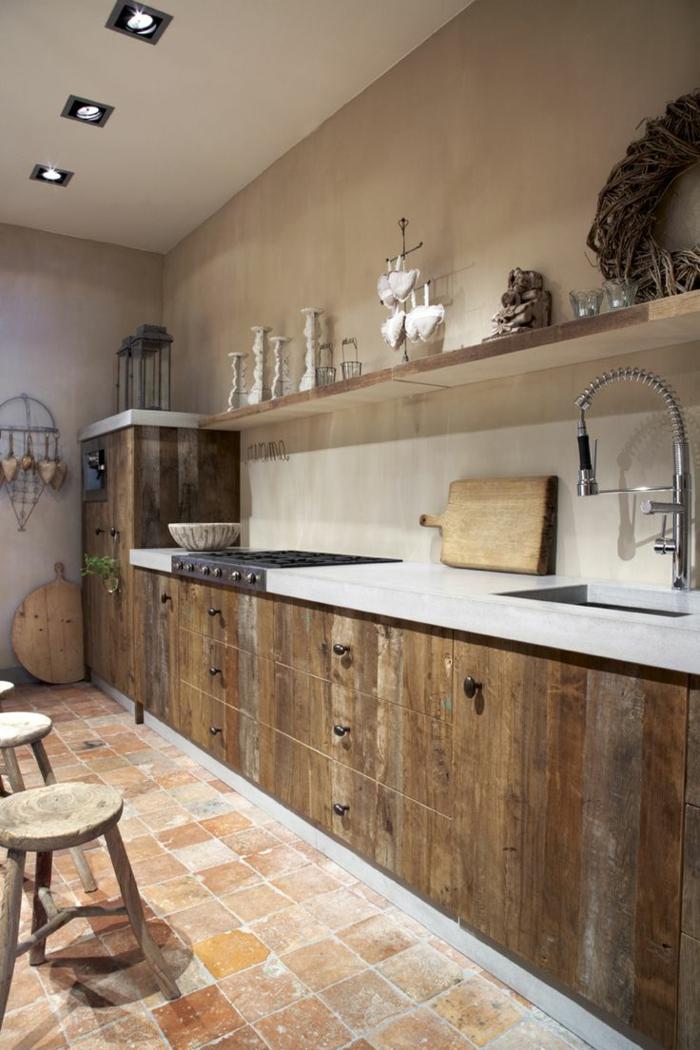 La cuisine en bois massif en beaucoup de photos - Photo cuisine en bois ...