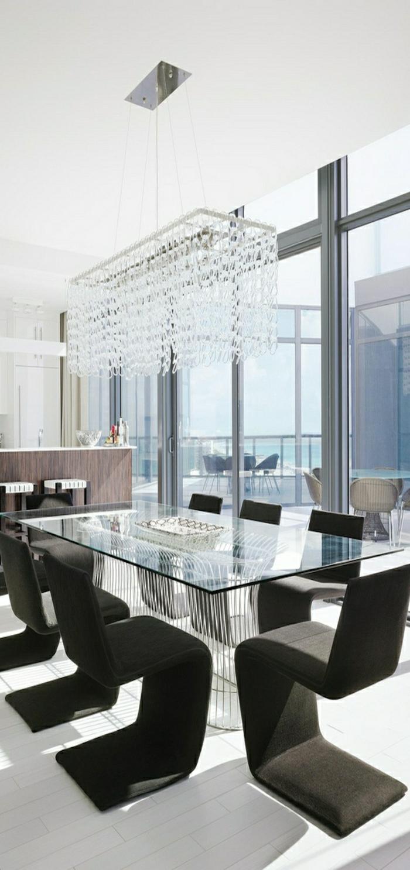 1-prix-plateau-verre-pour-table-chaise-noire-pous-la-salle-de-séjour-lustre-luxe
