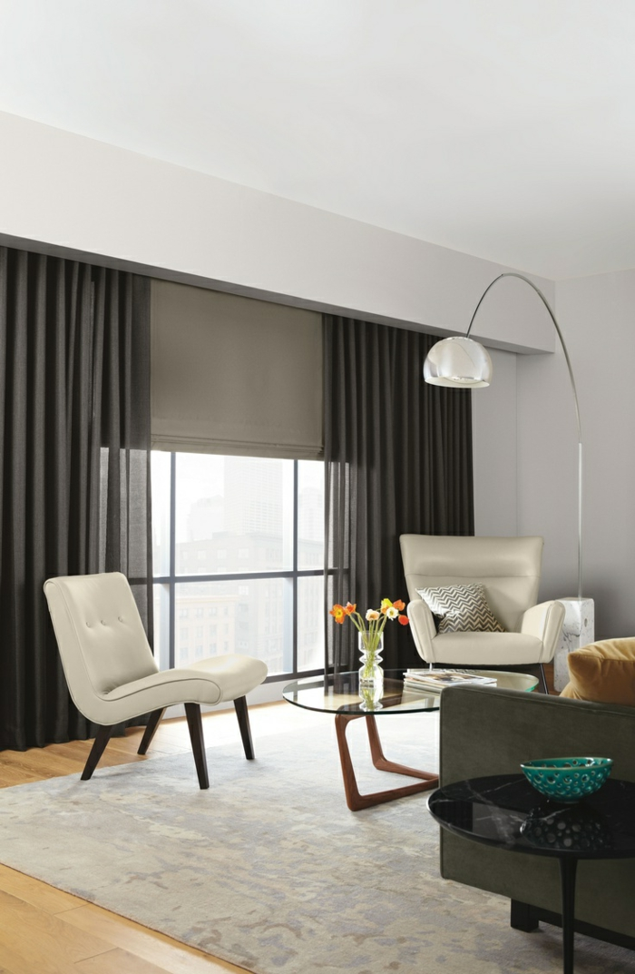 rideau salon moderne noir gascity for. Black Bedroom Furniture Sets. Home Design Ideas