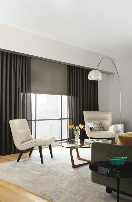 rideau salon moderne noir gascity for. Black Bedroom Furniture Sets. Home Design Ideas