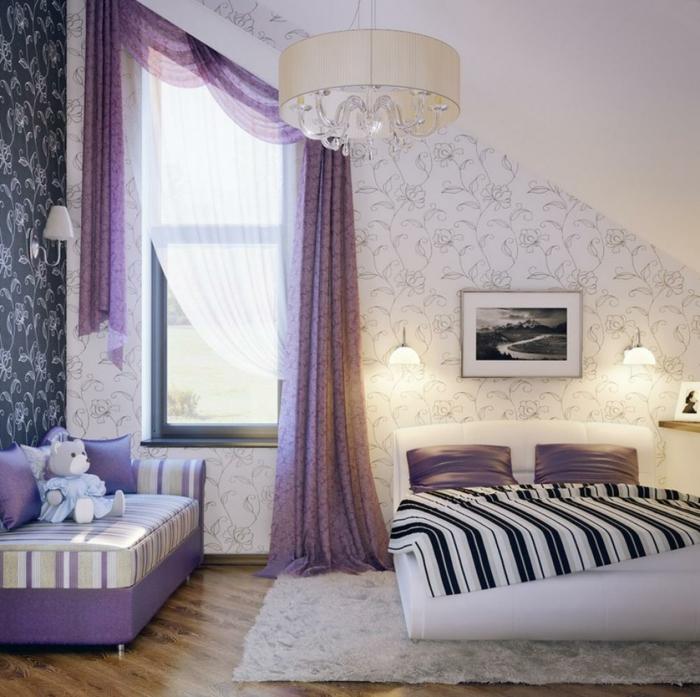 1-rideaux-occultants-violet-pour-la-chambre-à-coucher-dans-la-gamme-violet-tapis-blanc-chambre-élégante