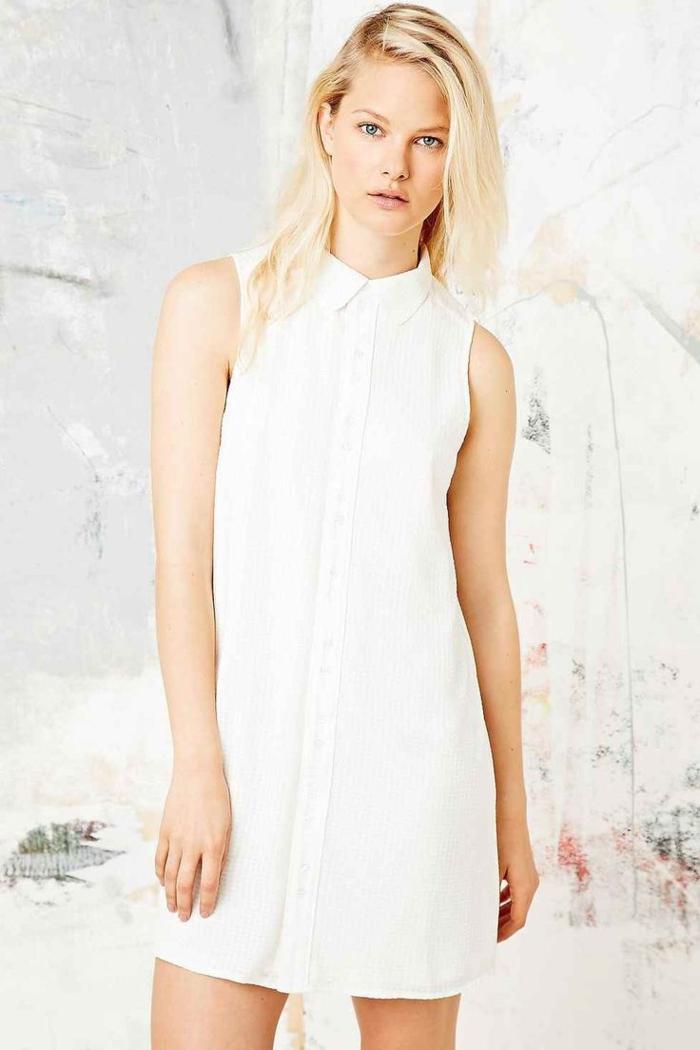 1-robe-blanche-chemise-robe-femme-blonde-tendance-2015-femme-blonde