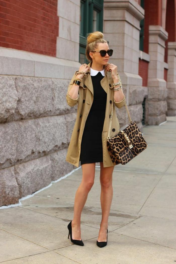 1-robe-chemise-robe-courte-noire-femme-blonde-lunette-de-soleil-sac-a-main