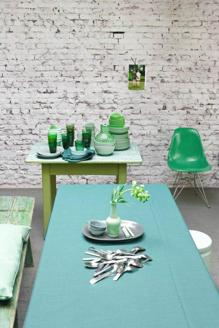 Adopter la couleur pastel pour la maison for Cuisine bleu vert