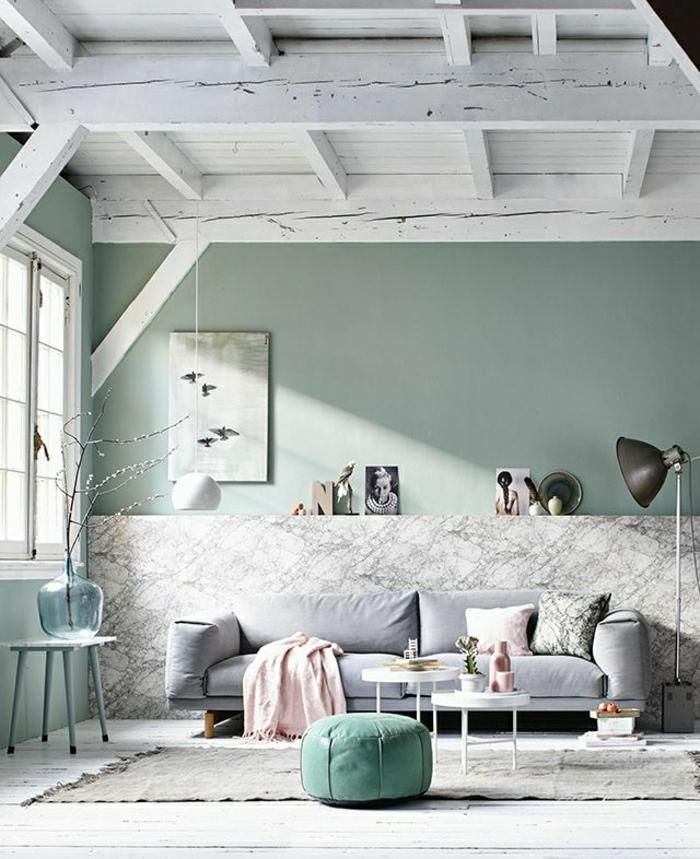 1-salon-bleu-pastel-tabouret-bleu-pastel-dessin-pastel-canapé-gris-pastel