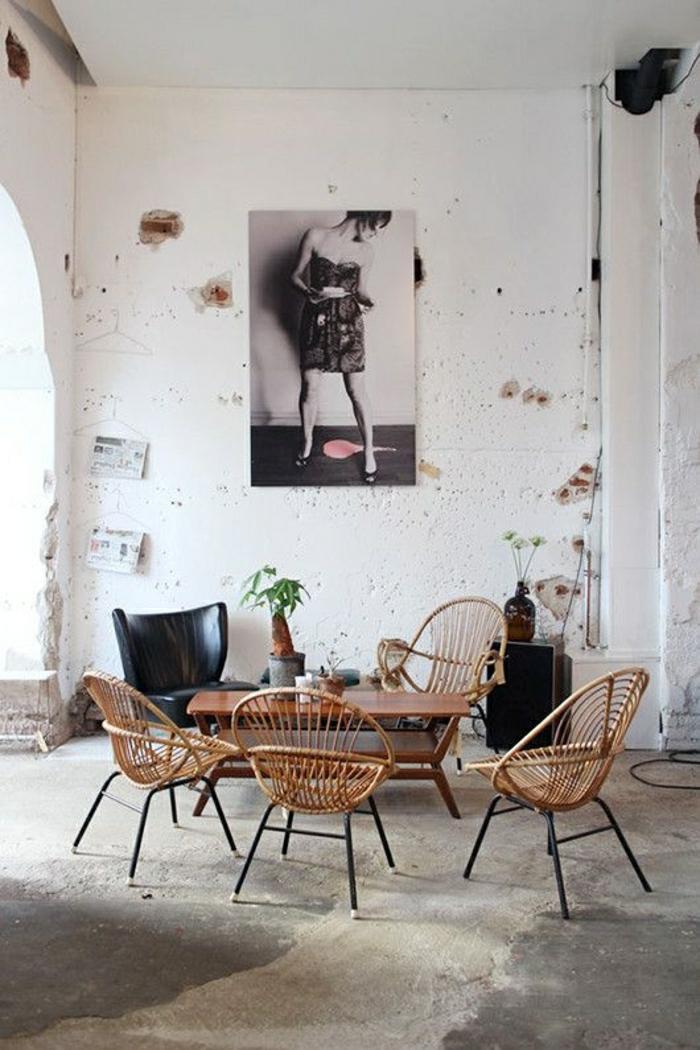 Notre inspiration du jour est la chaise en osier - Salon osier ...