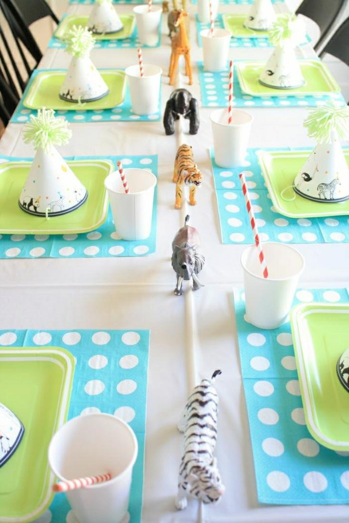 1-set-de-table-jetable-set-de-table-en-papier-fete-enfant-set-de-table-vert-nappe-blanche