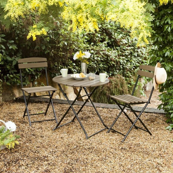Best table de jardin ronde en fer pliante ideas amazing - Table jardin bois pliante ...