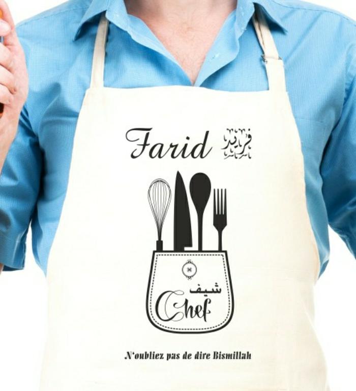 Tablier De Cuisine Blanc Pas Cher Stunning Tablier De Cuisine Avec