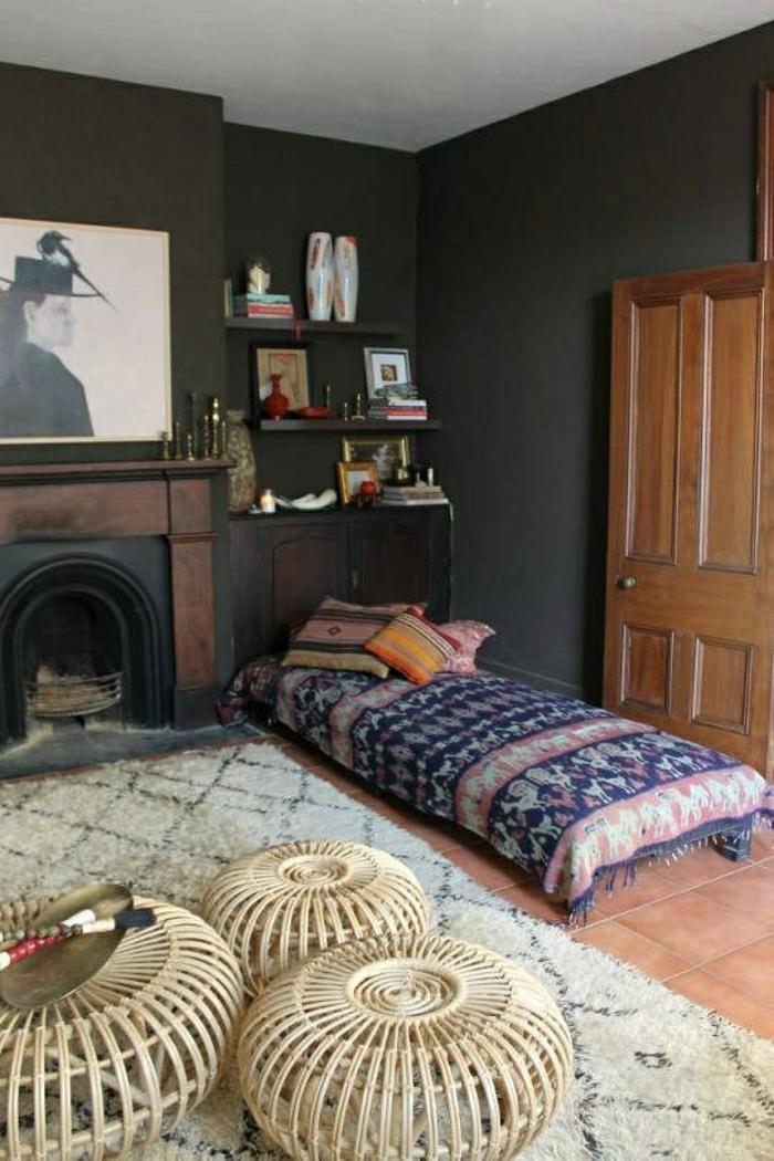 Notre inspiration du jour est la chaise en osier for Decoration murale osier