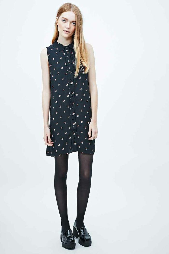 1-une-belle-robe-noire-robe-chemise-femme-blonde-aux-yeaux-bleus-blonds-cheveux