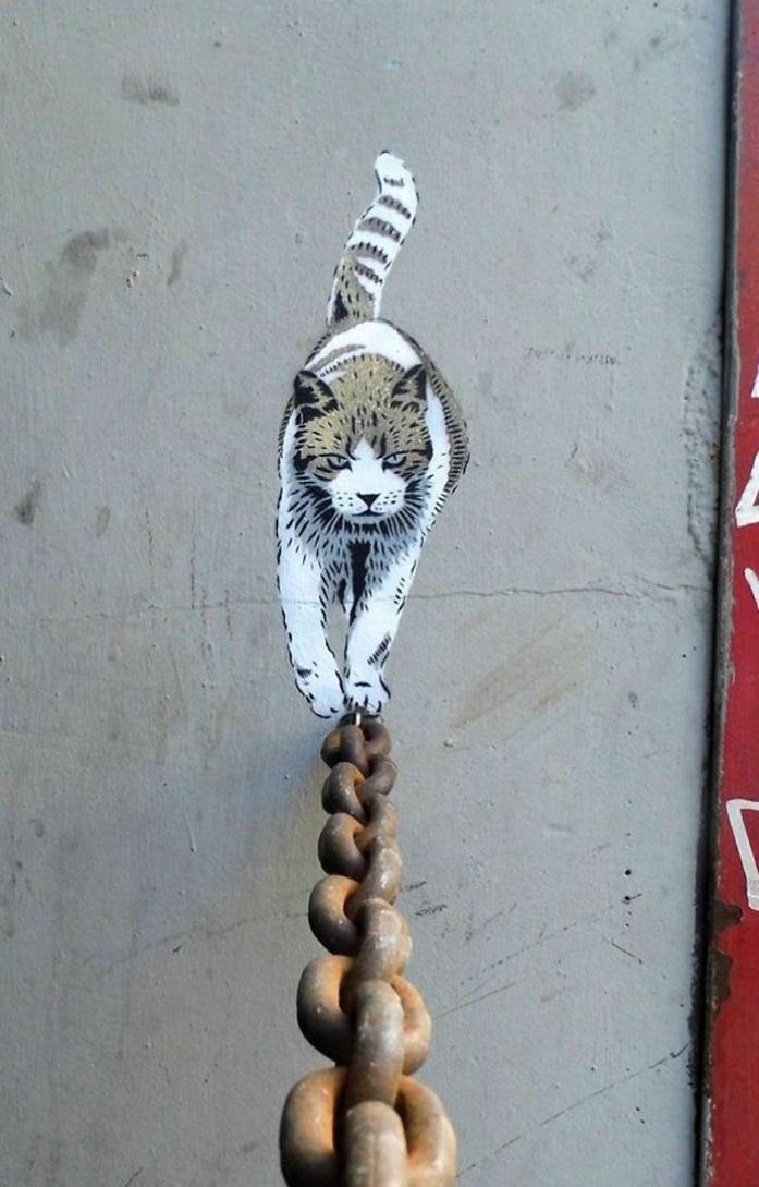 art-paris-pochoir-création-artistique-chat-cool