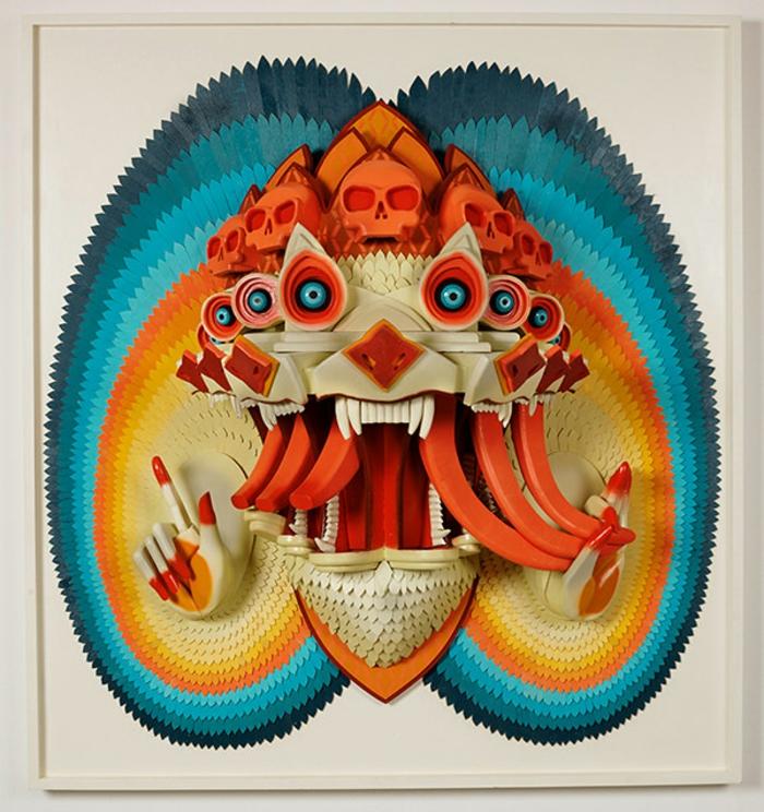 Anthropomorphism-sculpture-de-AJ-Fosik-sculpture-sur-bois-couleur