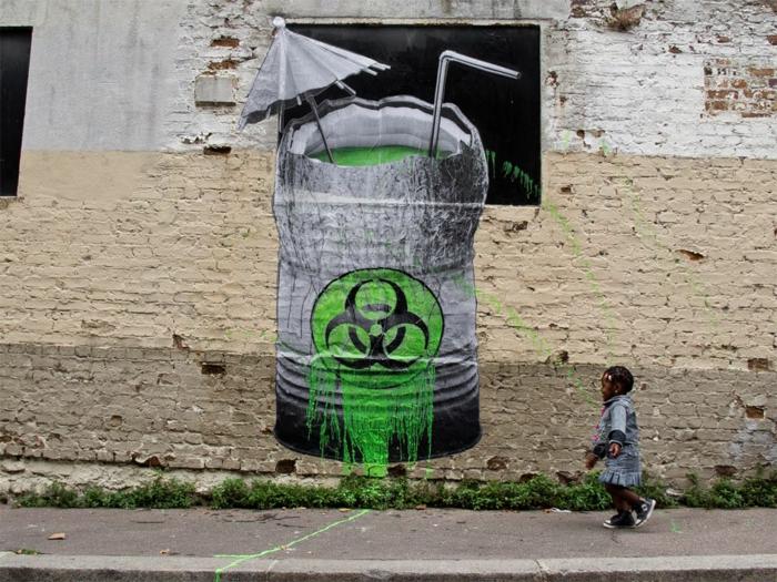 Art-urbain-Ludo-street-artiste-cocktail-vert-poison