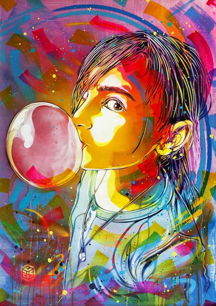 C215-street-art-créatif-original-sa-fille-nina