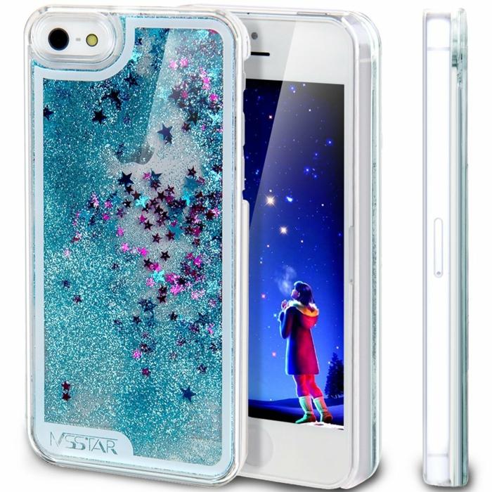 Coque-iphone-5s-personnalisée-étoiles-en-nuit