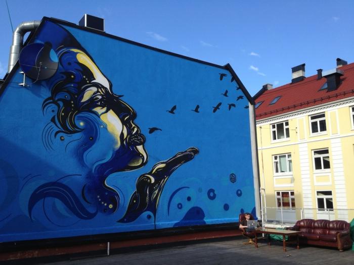 Graffiti-technique-pochoir-street-art-C215-portrait-oiseaux-femme