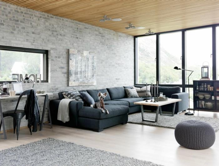 Idée-intérieur-design-industriel-style-canapé-confortable