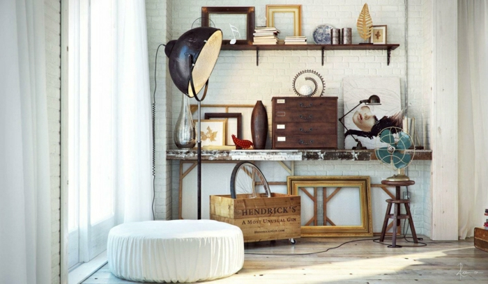 Idée-intérieur-design-industriel-style-tabouret-lampe-industrielle