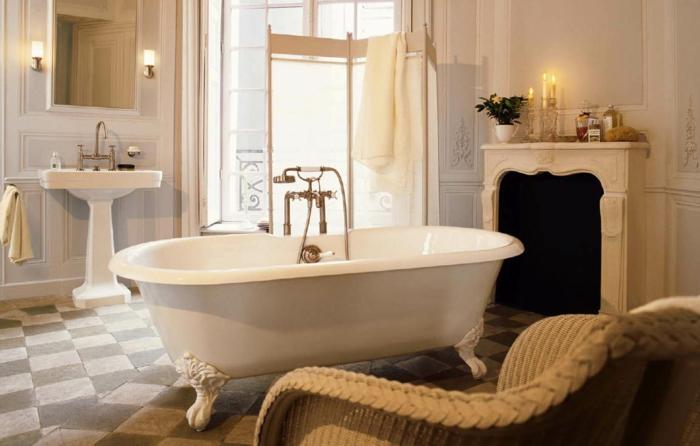 Intérieur-couleur-beige-cuisine-modenre-salle-de-bain-baignoire