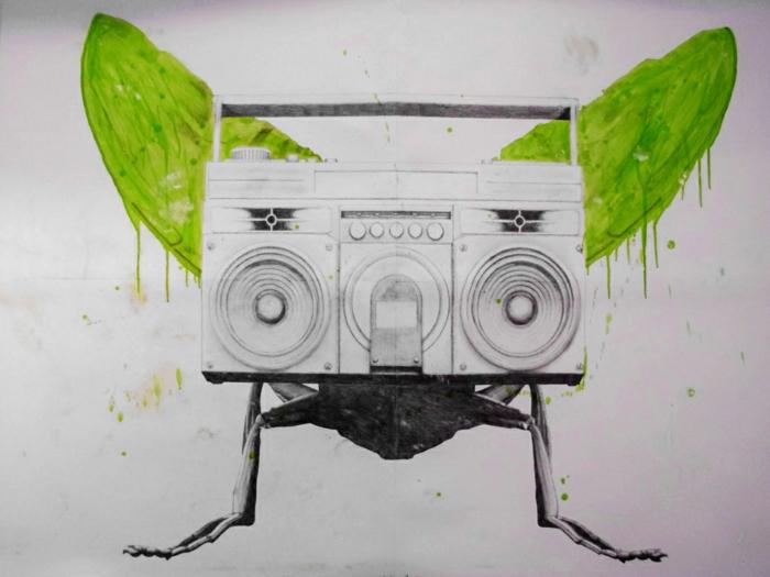 L'art-de-la-rue-chefs-d'oeuvres-cassette-nature-vert-blanc-noir