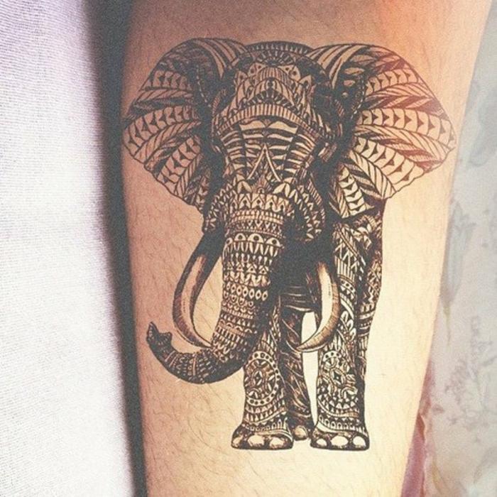 Tatouages g om triques belle id e ou tendance qui va s 39 vaporer - Signification tatouage elephant ...