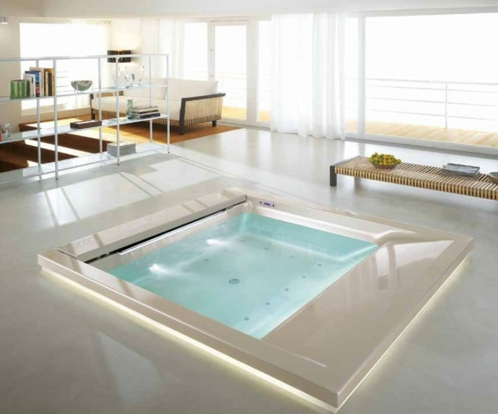 Dimension jacuzzi salle de bain for Dimension salle de bain