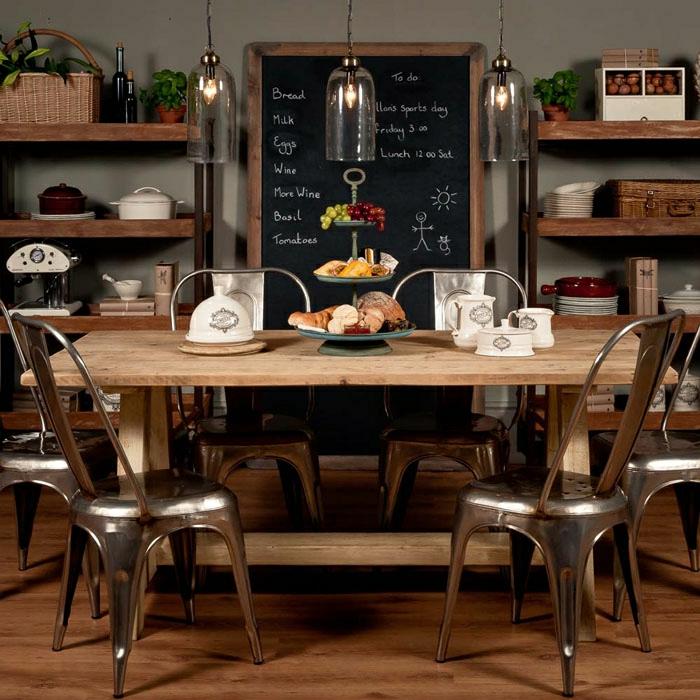 Le-chic-industriel-avec-meuble-moderne-chaise-table-à-manger-salon