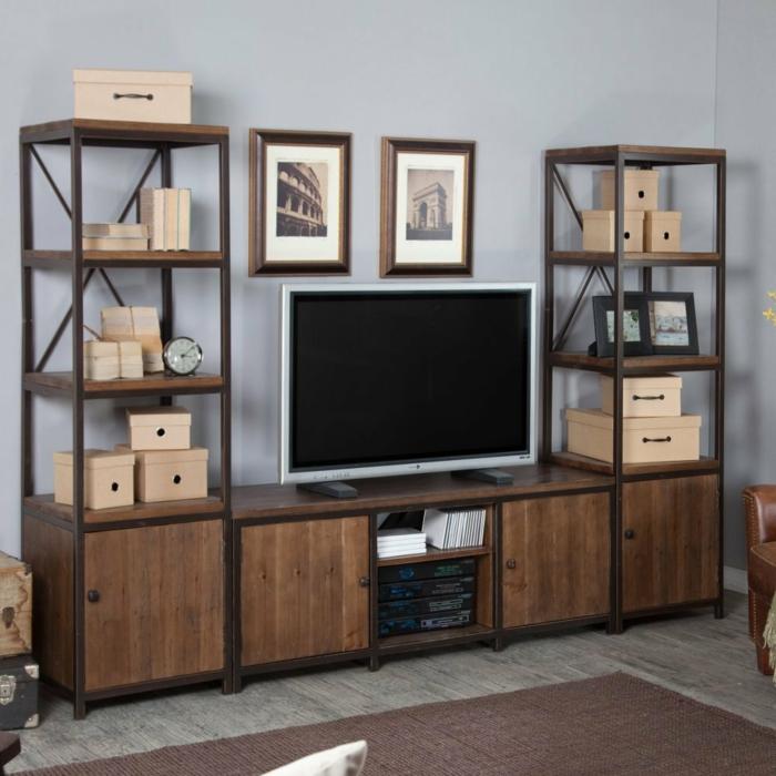 Le-meuble-tv-style-industriel-salle-de-séjour-le-comode-industrelle