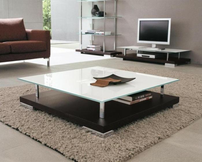 Le-meuble-tv-style-industriel-salle-de-séjour-table-basse-en-verre