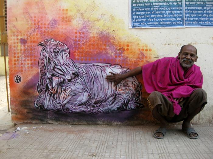 Street-artiste-rue-pochoiriste-C215-animaux-chat-a-cool