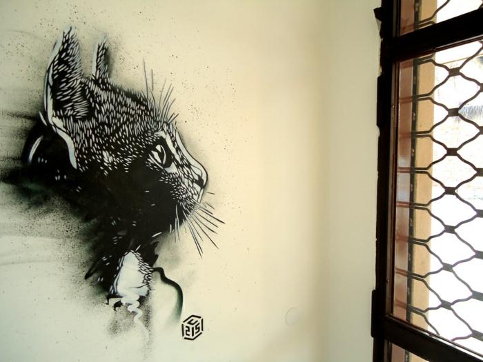 Street-artiste-rue-pochoiriste-C215-animaux-chat-mini-peinture