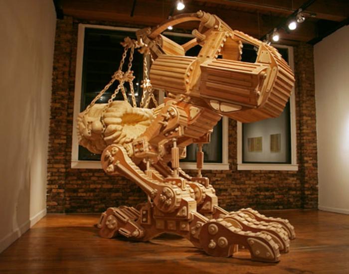Wooden-Technologie-sculpture-sur-bois-de-Michael-Rea