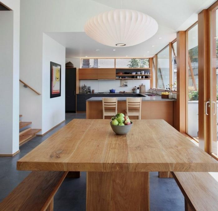 Quelques exemples de joli am nagement de cuisine ouverte for Cuisine ouverte avec table integree