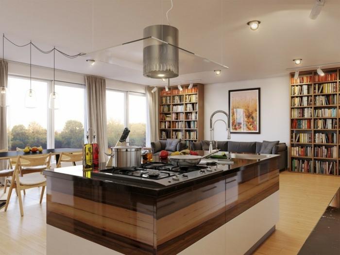 aménagement-de-cuisine-ouverte-cuisine-au-centre-del'espace-de-séjour