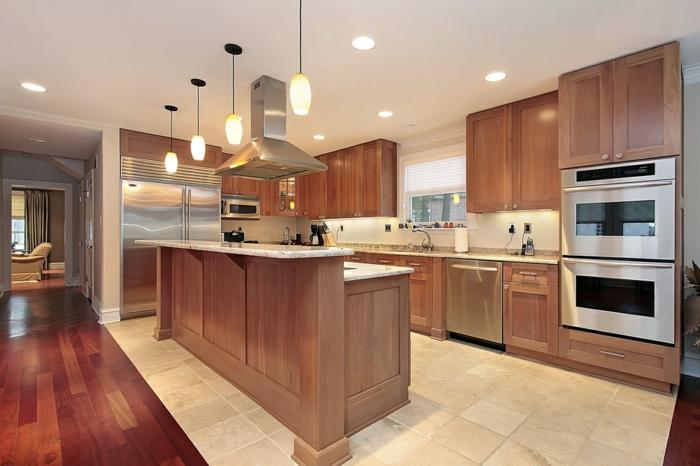 quelques exemples de joli am nagement de cuisine ouverte. Black Bedroom Furniture Sets. Home Design Ideas