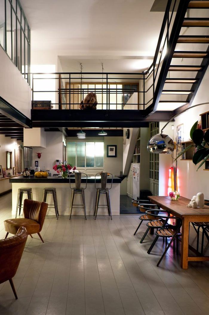 aménagement-de-cuisine-ouverte-décor-spectaculaire