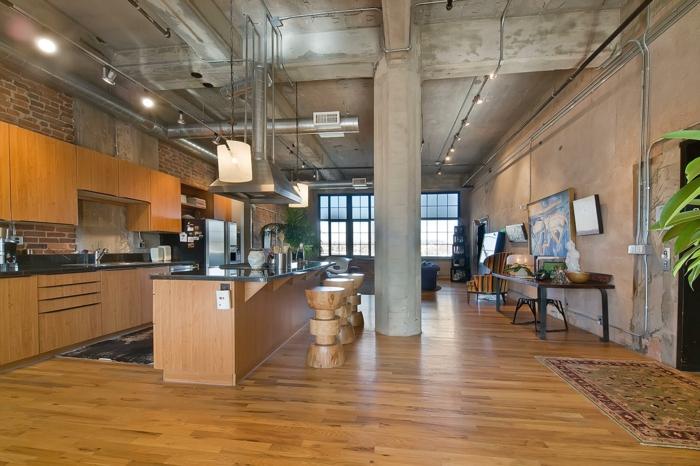 aménagement-de-cuisine-ouverte-espace-de-séjour-magnifique