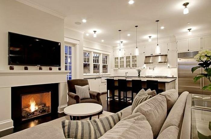 aménagement-de-cuisine-ouverte-intérieur-claire