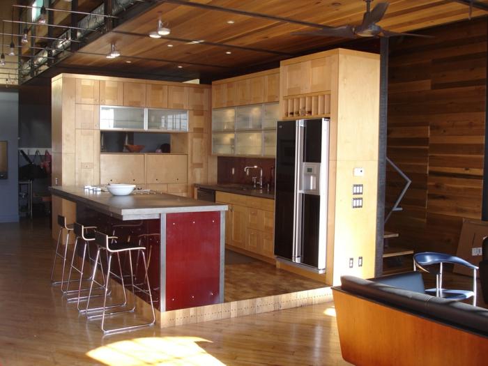 aménagement-de-cuisine-ouverte-intérieur-cosy